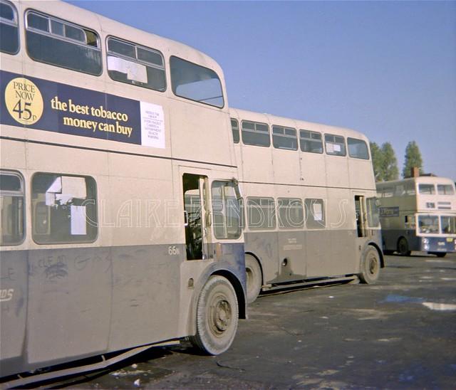 WMPTE 66N + 57N, Wolverhampton, 1976