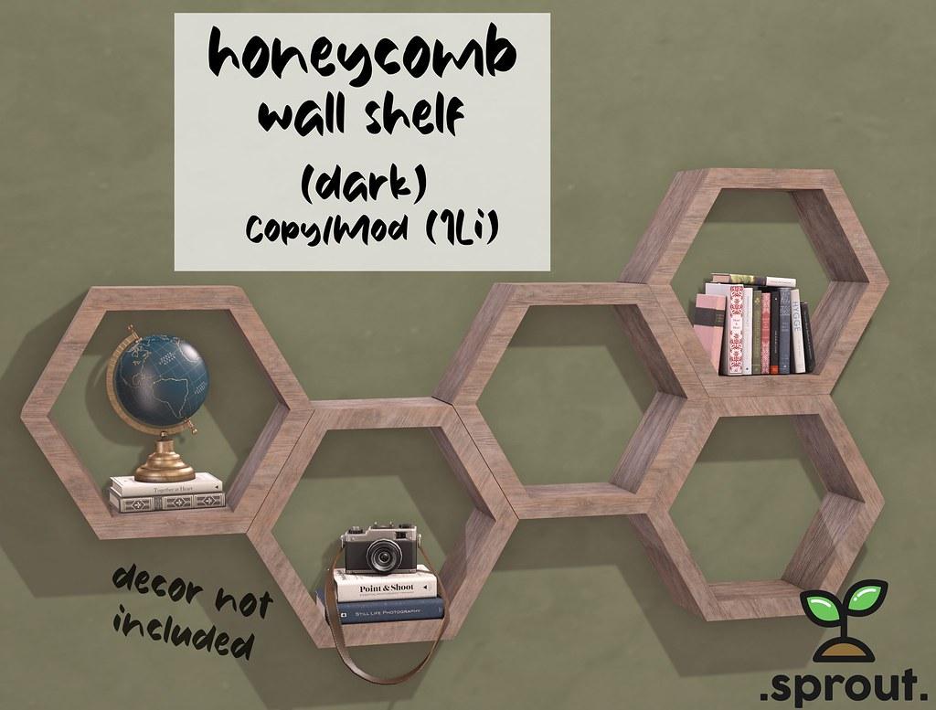 .sprout. honeycomb shelf (dark)