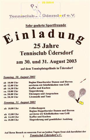 2003 Jubilaeumsturnier 25 Jahre