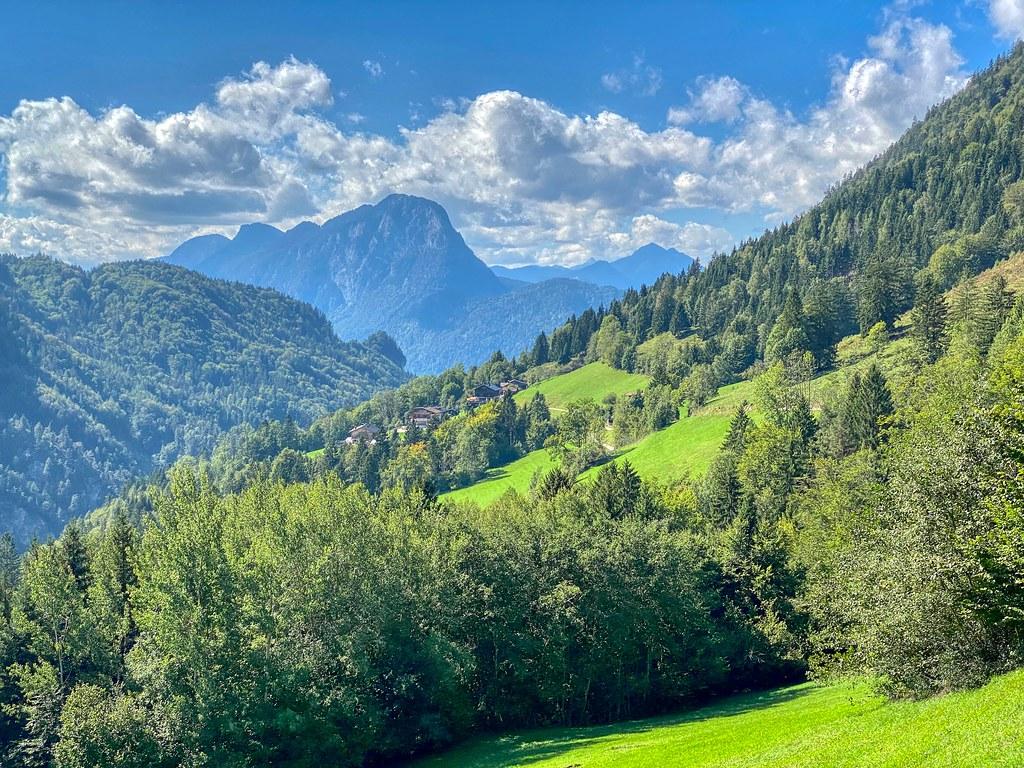 Mountain landscape near Kufstein in Tyrol, Austria