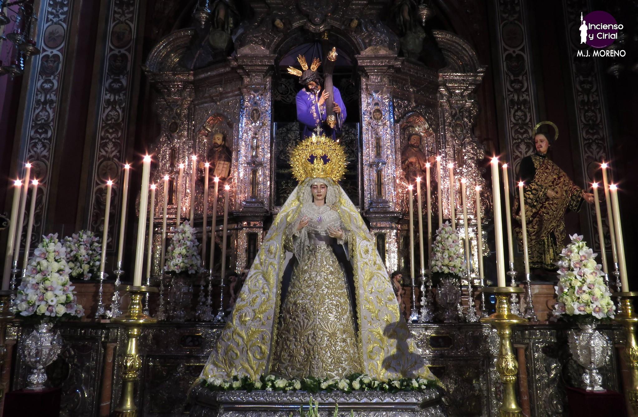 Las imágenes de la veneración en honor a la Virgen de la Merced