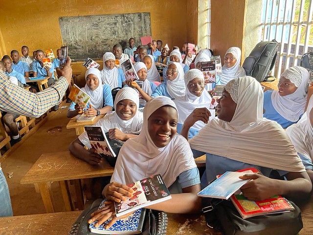 Sierra Leone Book Trust Krio language textbook and girls empowerment collection distribution, Freetown