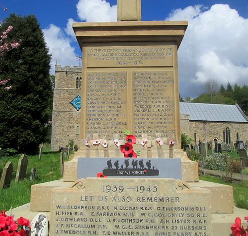 Stanhope War Memorial Dedication and  Names