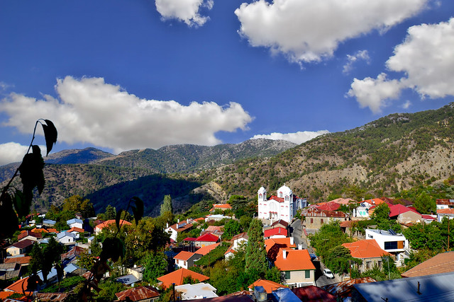 View of the village of Pedoulas - Cyprus.