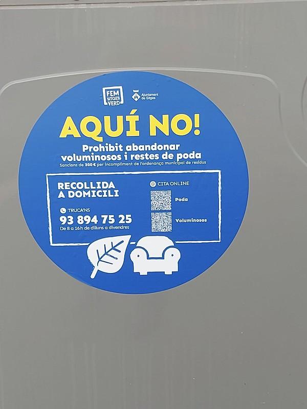 Sitges cuenta con un servicio de recogida de residuos voluminosos y poda, con cita previa