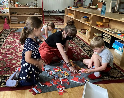 farm puzzle with Makenna