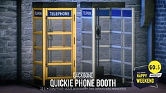 BackBone Quickie Phone Booth for Happy Weekend
