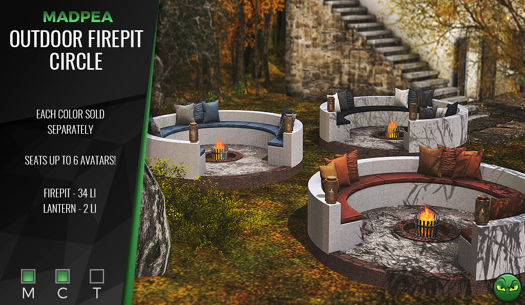 🍂MadPea Outdoor Firepit Circle @ UBER  *GIVEAWAY*🍂
