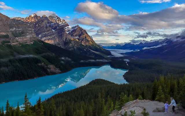 One best places to view in Banff , Peyto lake .