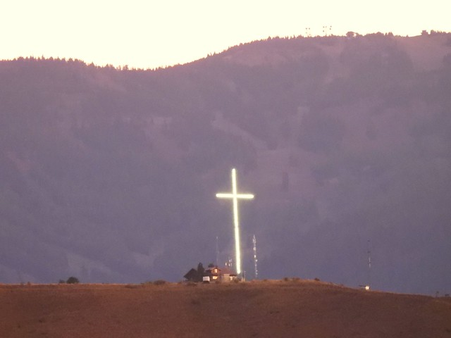 This is the hilltop Cross Installation