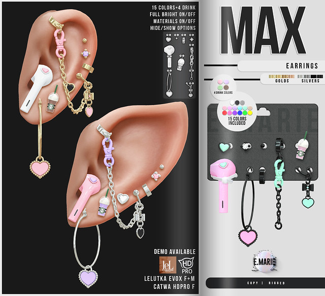 e.marie // Max Earrings