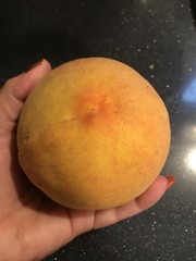 Peach from our tree