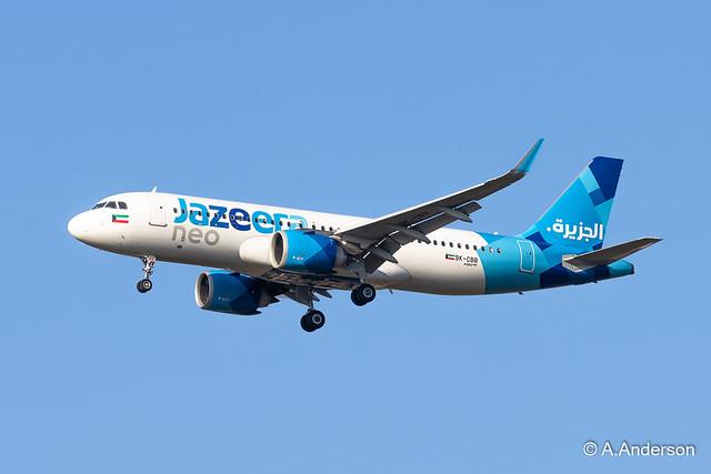 Airbus A320-200neo 9K-CBB Jazeera 20210924 Heathrow