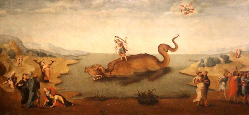 Master of Serumido (from piero di cosimo), Perseus Rescuing Andromeda, 1500-15
