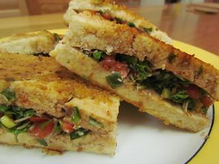 Tofu Stuffed with Watercress and Tomatoes