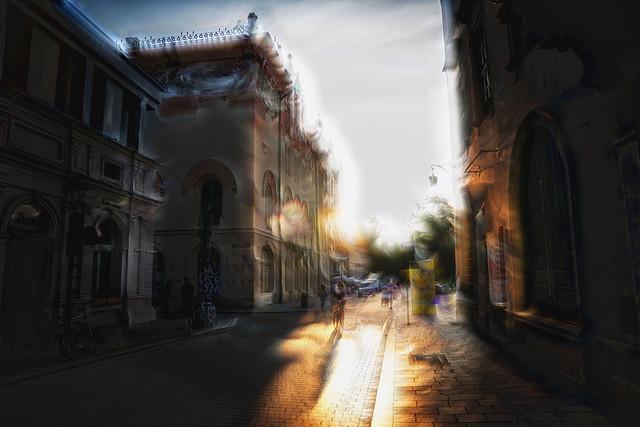 Cracow GOLD ALCHEMY LIGHT to Plac Szczepanski street view