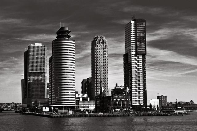 Dramatic Skyline of Rotterdam