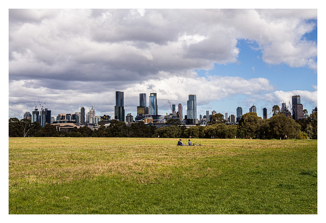 Melbourne skyline viewed from Royal Park
