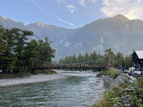 上高地 河童橋の朝