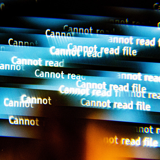 Cannot read file