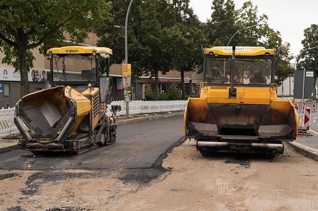 Straßenbau Berlin Lankwitz 25.9.2021