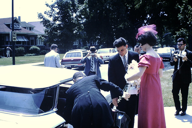 Found Photo - The Bride Arrives