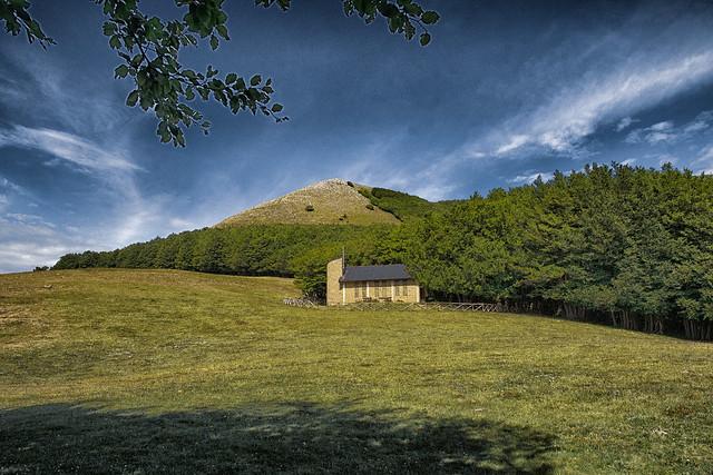 Small church on Mount Volturino