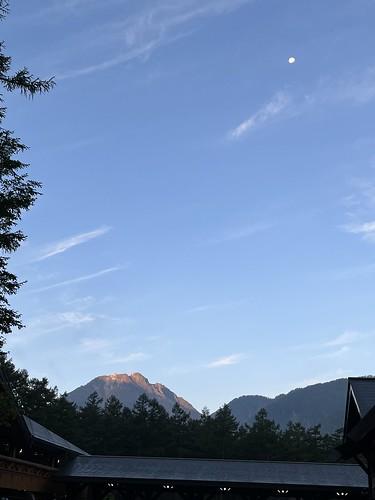 上高地の朝