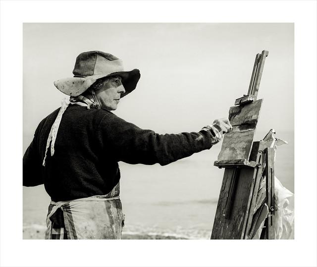 Artist Jane Hodgson. Cromer, Norfolk.