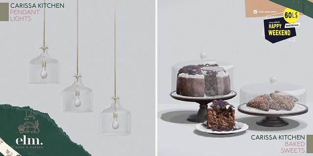 Elm. Carissa Kitchen Pendant Lights + Baked Sweets