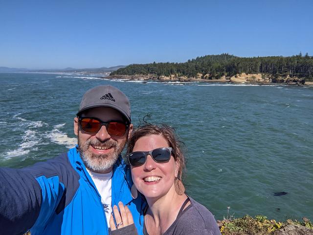 selfie @ Boiler Bay scenic viewpoint