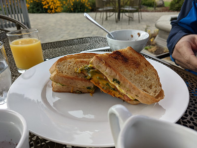 delicious breakfast sandwich @ La Bastide B&B