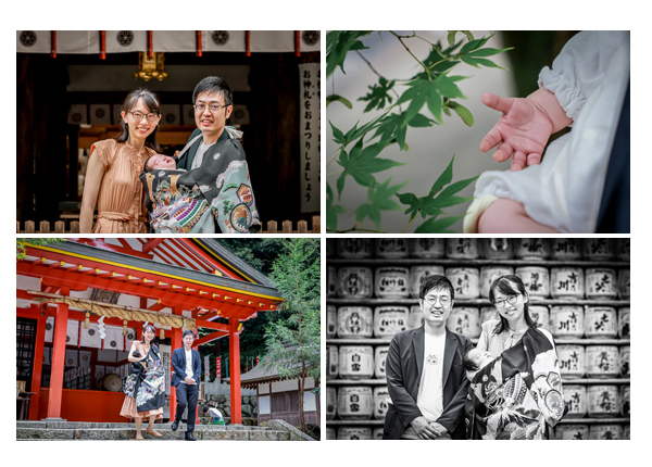 お宮参りのロケーション撮影 愛知県犬山市の大縣神社