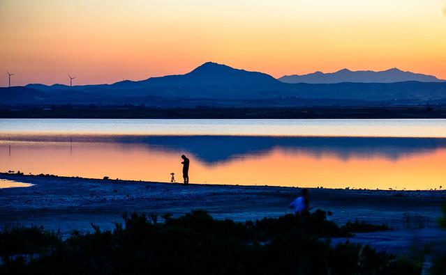 Sunset at the Salt Lake