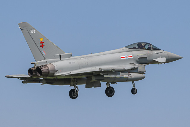 ZK376 Eurofighter FGR.4 on approach to RAF Coningsby (21-07-21)