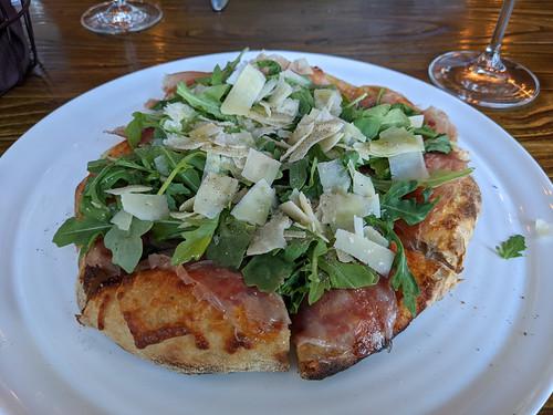 Prosciutto and Rucola pizza @ Rosmarino Osteria
