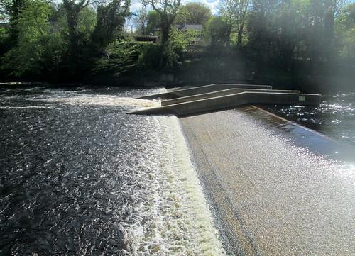 Weir on River Tees near Barnard Castle