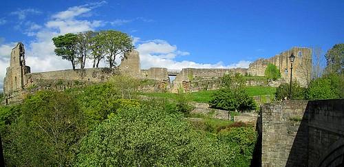 Barnard Castle from Bridge over the River Tees