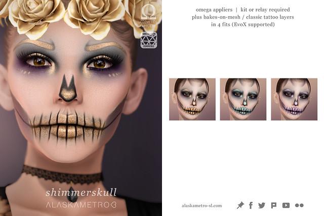 """alaskametro<3 """"ShimmerSkull"""" face paint for SOS Festival Hunt"""