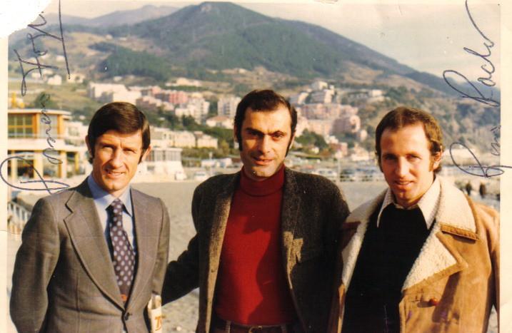 Da sx verso dx: Romano Fogli, Olimpio Guidi e Rino Rado (Foto: gentile concessione Olivio Guidi)