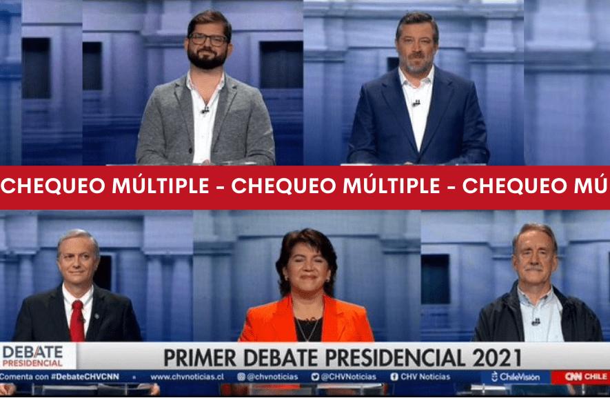 Chequeo múltiple: afirmaciones de los candidatos/a a la presidencia durante el debate CNN-CHV