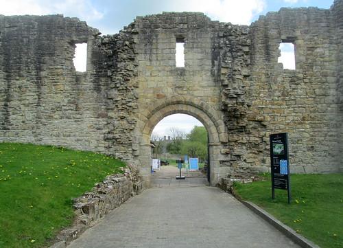 Entrance to Castle at Barnard Castle