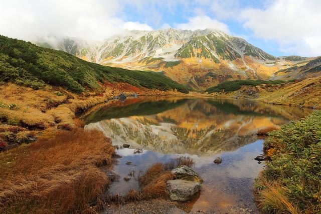 Tateyama mountains and Midorigaike pond
