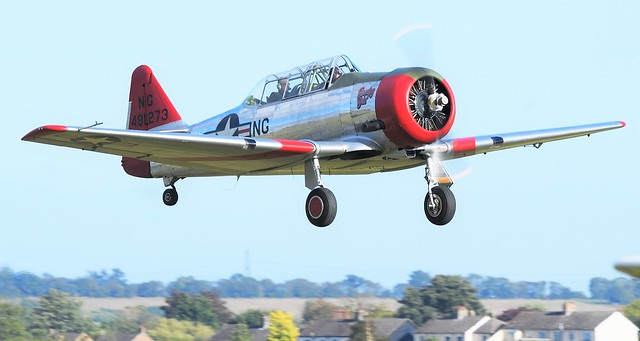 North American AT-6D-NT Texan USAAF 44-81273 G-CJWE Harvard 4 Dazzling Debs