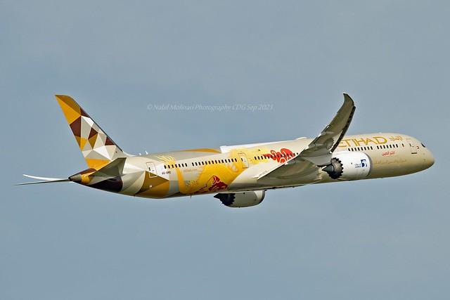 Etihad Airways A6-BMD Boeing 787-10 Dreamliner cn/60758-777 painted in