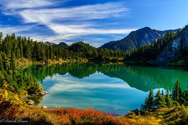 blue meets glacial green