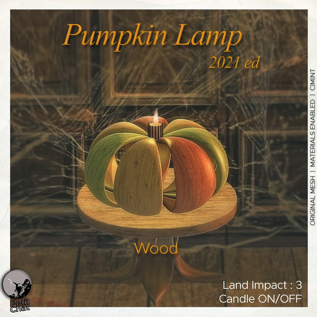 Petit Chat : Pumpkin Lamp Wood @ Secret Sale Sundays
