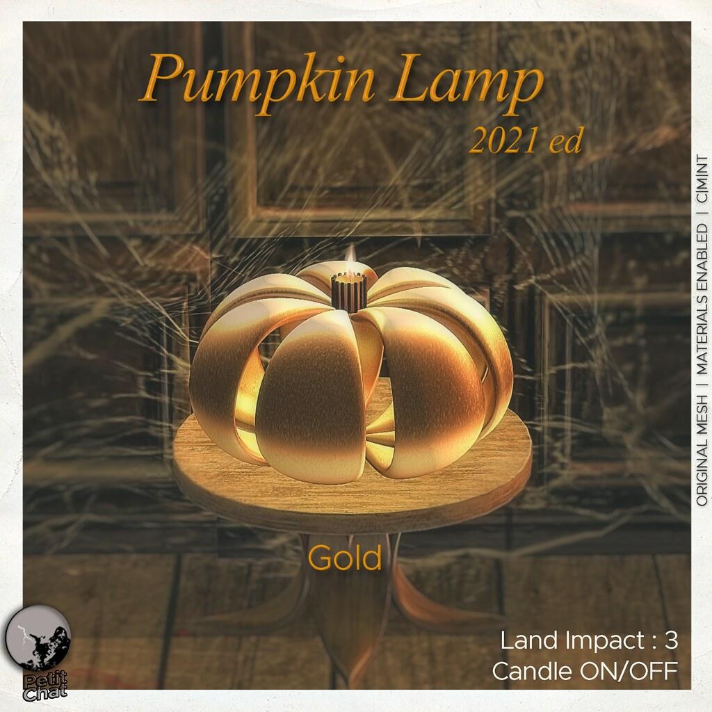 Petit Chat : Pumpkin Lamp Gold  @ Secret Sale Sundays