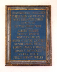 The men of Depden who died for their country in the Great War