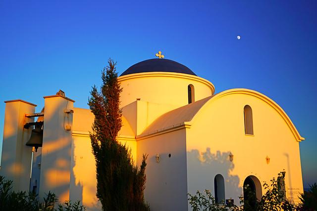 St Nicholas Church Paphos in the evening light, Cyprus